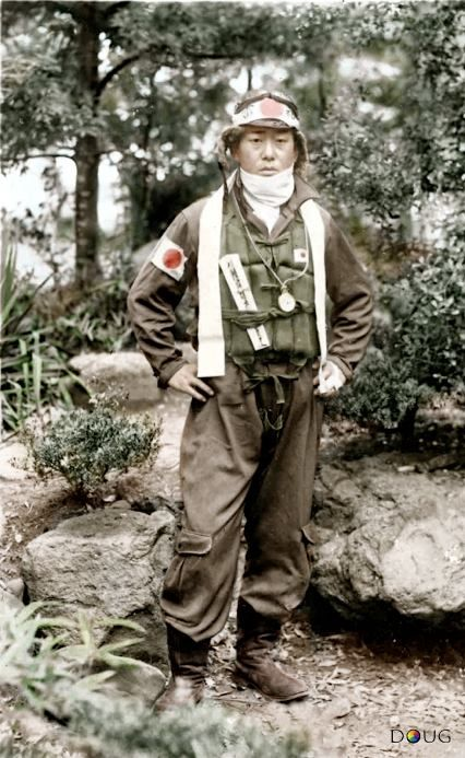 Japanese pilot - note the pocket watch around his neck
