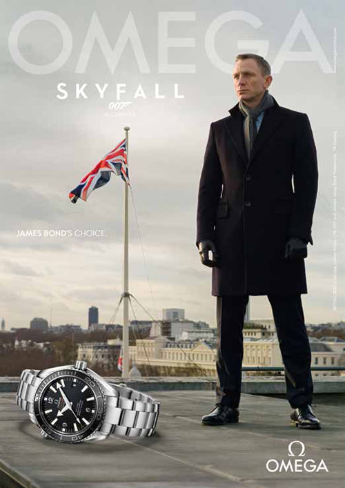 Omega - Daniel Craig as James Bond in Skyfall
