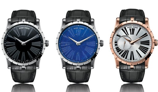 Models in the new 42mm Excalibur collection by Roger Dubuis