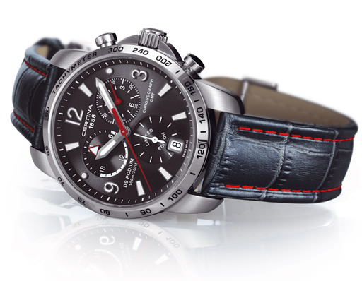 The limited-edition Certina Podium GMT Sauber F1 team