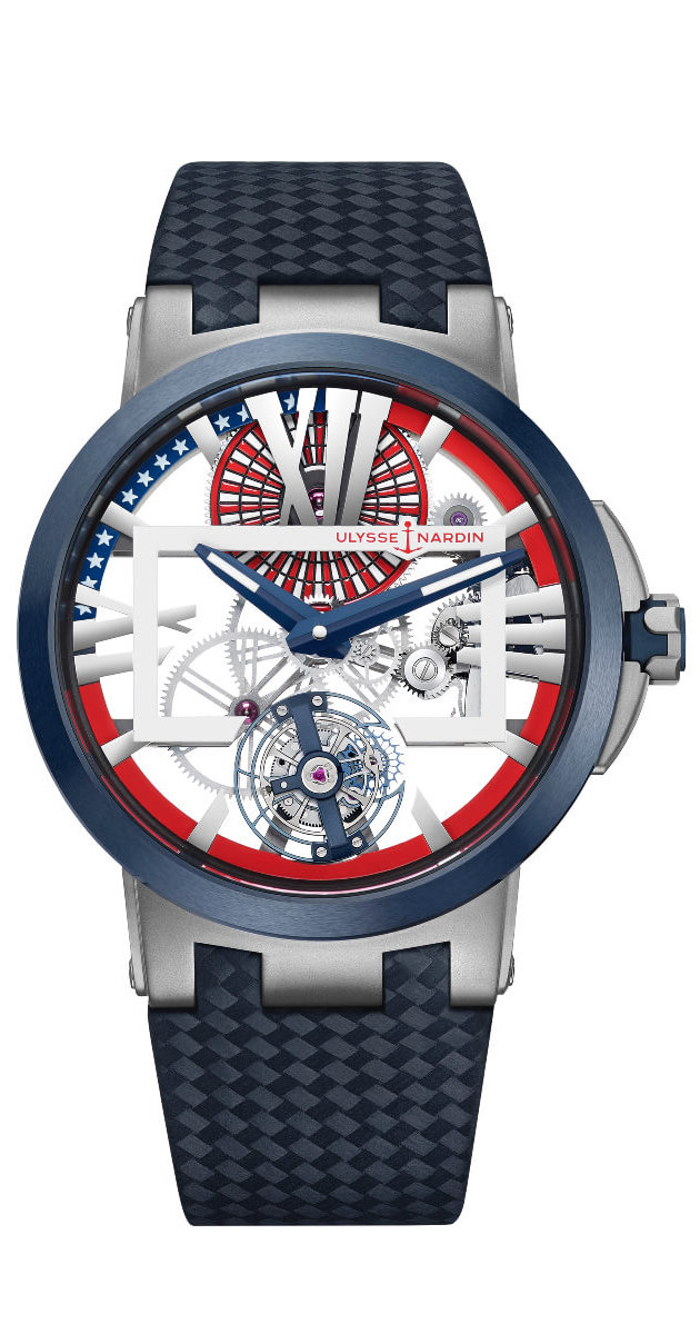 "Ulysse Nardin Executive Skeleton Tourbillon ""Stars and Stripes"""