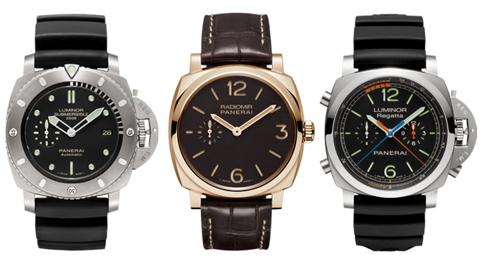 From Left to Right: Submersible, Radiomir & Chrono - Panerai 2013 Novelties