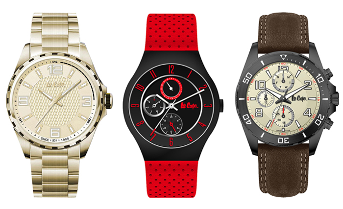 From Left to Right: Holyport, Derby & Norwich timepieces by Lee Cooper Watches