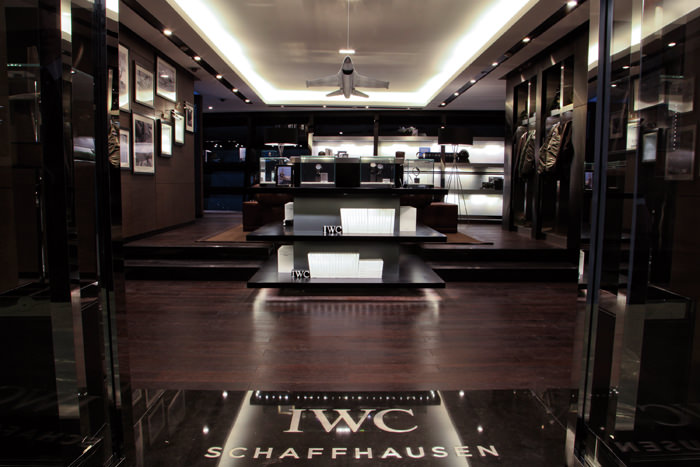 The interior of the IWC store at Parkview Green Mall, Beijing