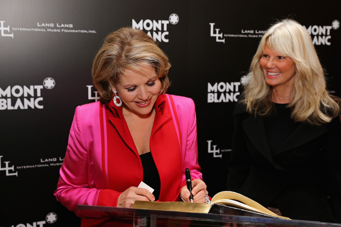 Opera Singer Renée Fleming and Montblanc Director PR International and Cultural Affairs, Ingrid Roosen-Trinks attend The Lang Lang International Music Foundation Inaugural Gala supported by Montblanc