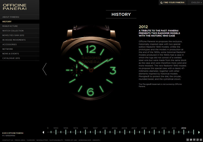 The new-look Officine Panerai website