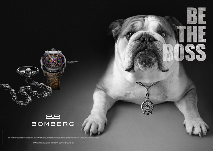 """Be the Boss"" Advert by Bomberg"
