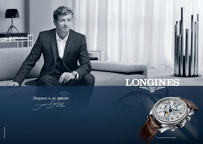 Simon Baker in Longines' New Advertising Campaign