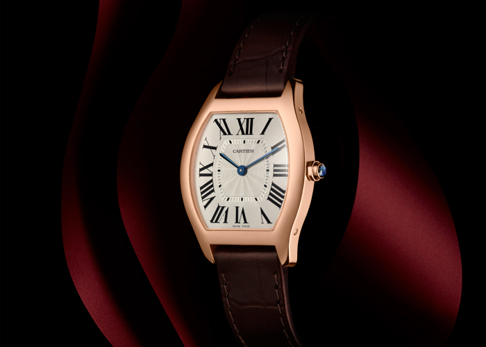 Tortue Watch (medium model) in pink gold by Cartier