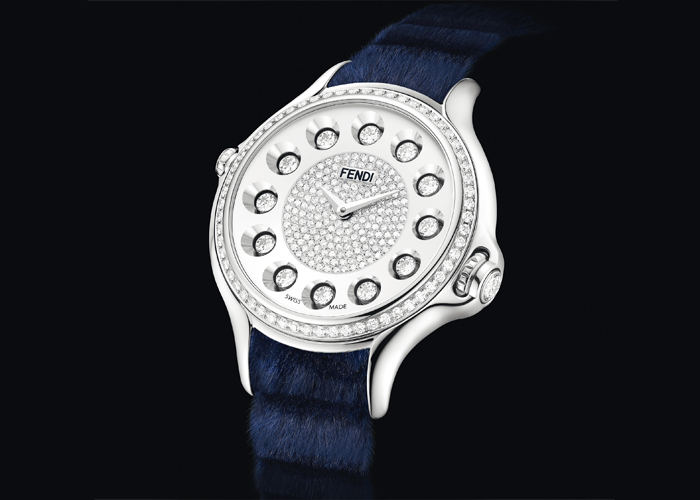 Crazy Carats Timepiece by Fendi (Blue Mink Fur)