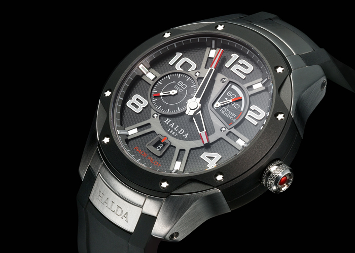 Halda race chronograph - especially developed in cooperation with F1-drivers