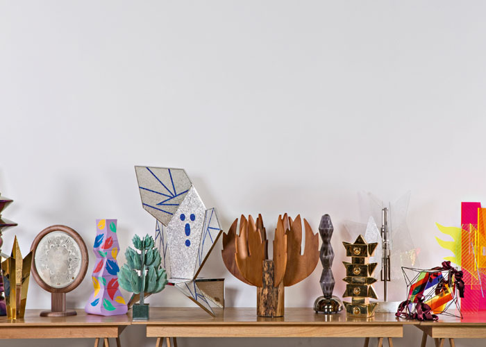 Thirteen works conceived by Mendini produced by craftsmen, in thirteen different materials.