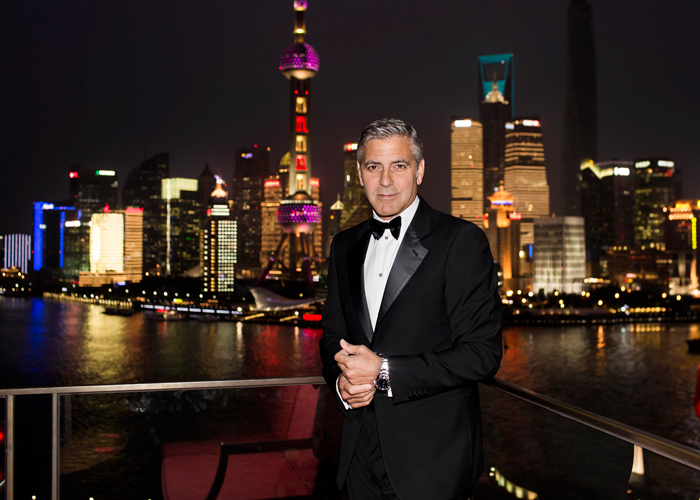 George Clooney joined Omega in Shanghai on Friday 16th May