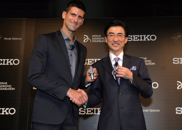 The Seiko & Novak Djokovic partnership announcement