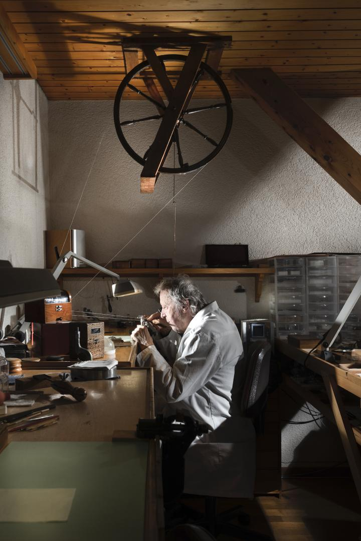 Daniel Roth at his working bench