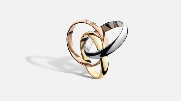 The Trinity ring by Cartier is made up of three intertwined, mobile bands in three colours of gold. A design created by Louis Cartier in 1924. The world-leading jewellery brand is also the crown jewel of the Richemont group.