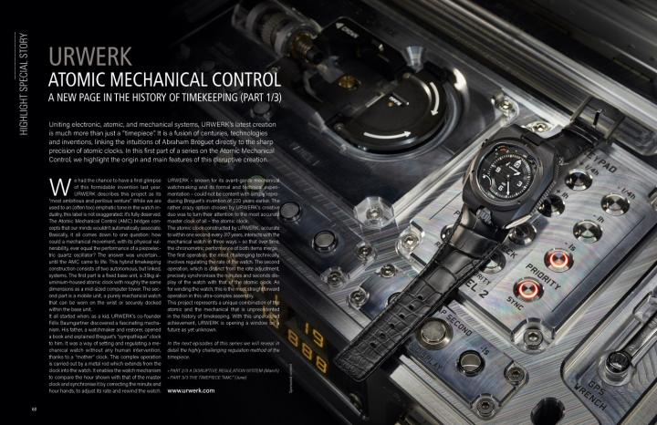 Urwerk - Atomic mechanical control