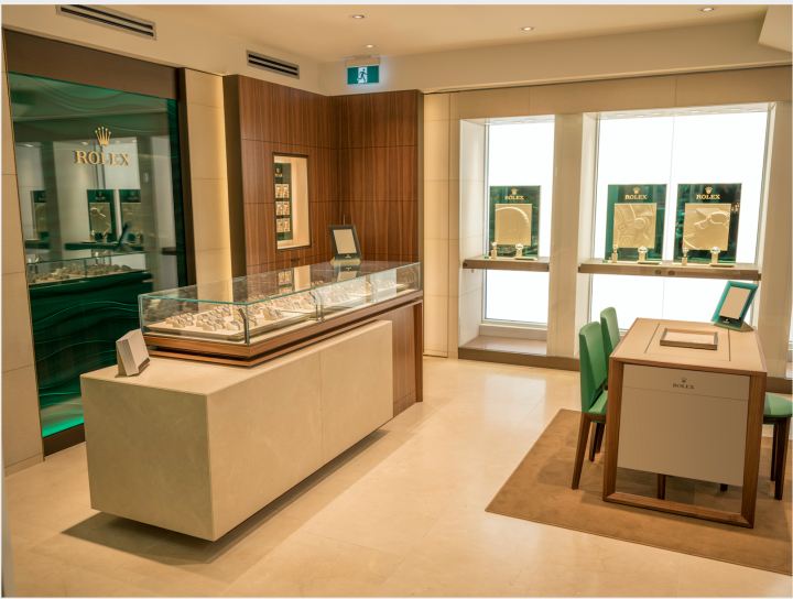 The Rolex corner at Bijouterie Italienne in Montreal. The boutique, which has the support of Montreal's large Italian-speaking community, is one of the country's major independent retailers.