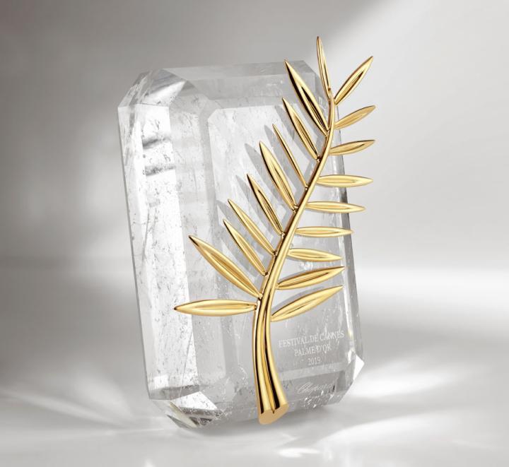 The Cannes Palme d'Or, designed by Caroline Scheufele