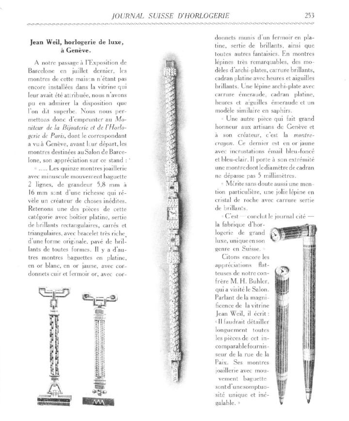 Journal Suisse d'Horlogerie, 1929