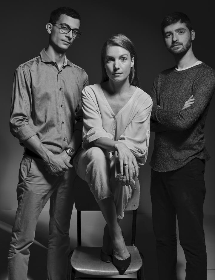 The co-founders of The Rayy: Romain Testuz, Noémie Arrigo and Yuliy Schwartzburg
