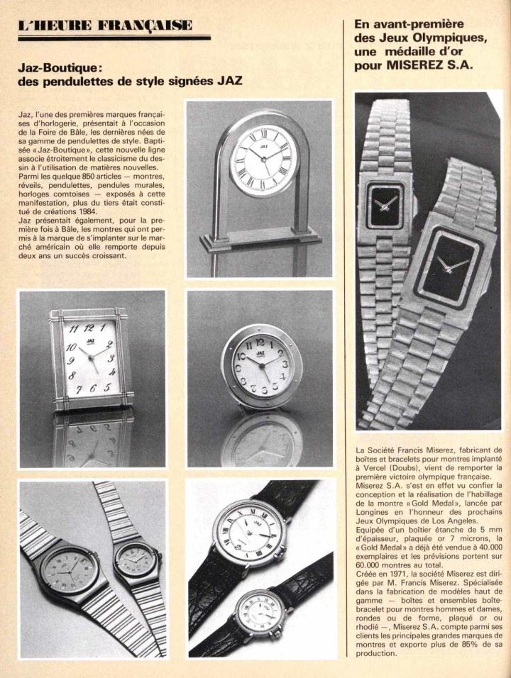 The Longines Gold Medal watch for the 1984 Olympic Games in Los Angeles (top right)