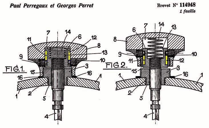 Screw-down crown mechanism