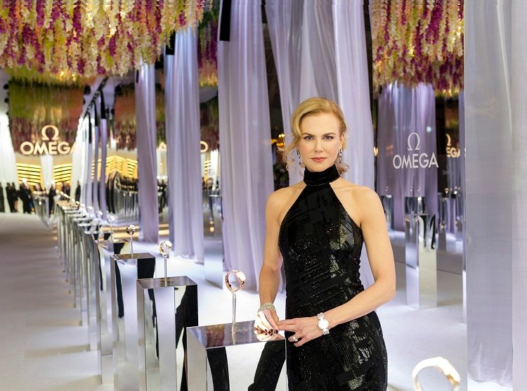 "Nicole Kidman opens Omega's ""Her Time"" exhibition in Milan"