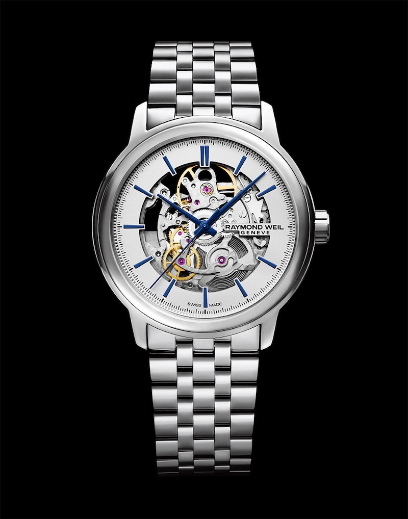 Raymond Weil focuses on the essentials with the Maestro Skeleton