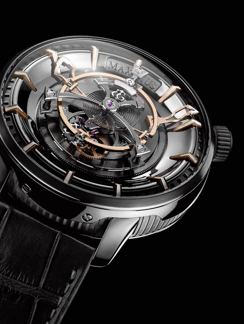 The tourbillon cage measures 27mm