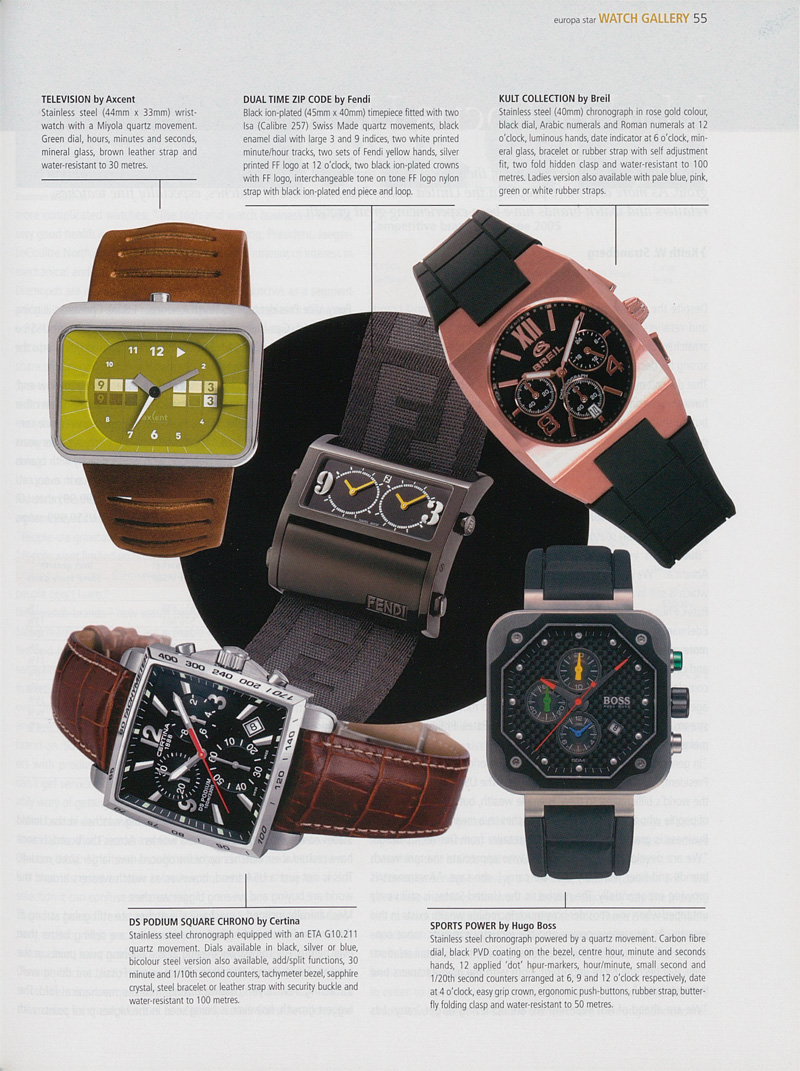 DS Podium Square Chrono published in Europa Star in 2006