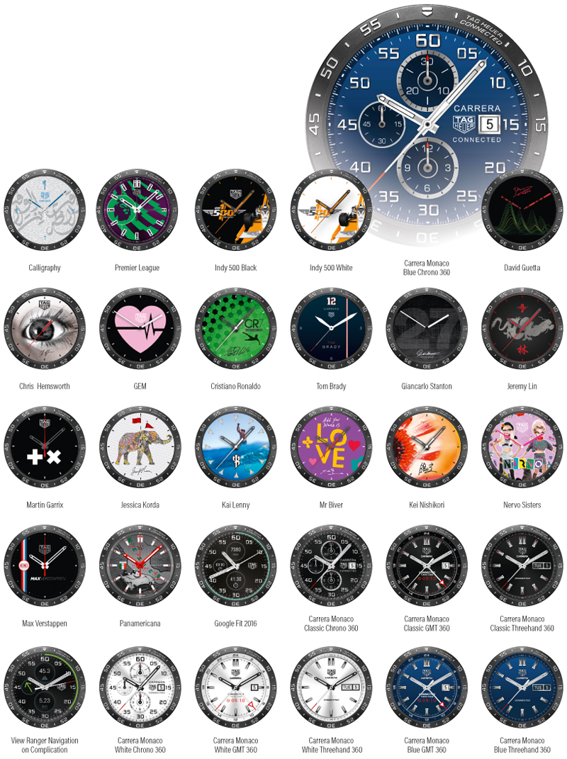 Smartwatch faces - All the (official) dials of the TAG Heuer connected