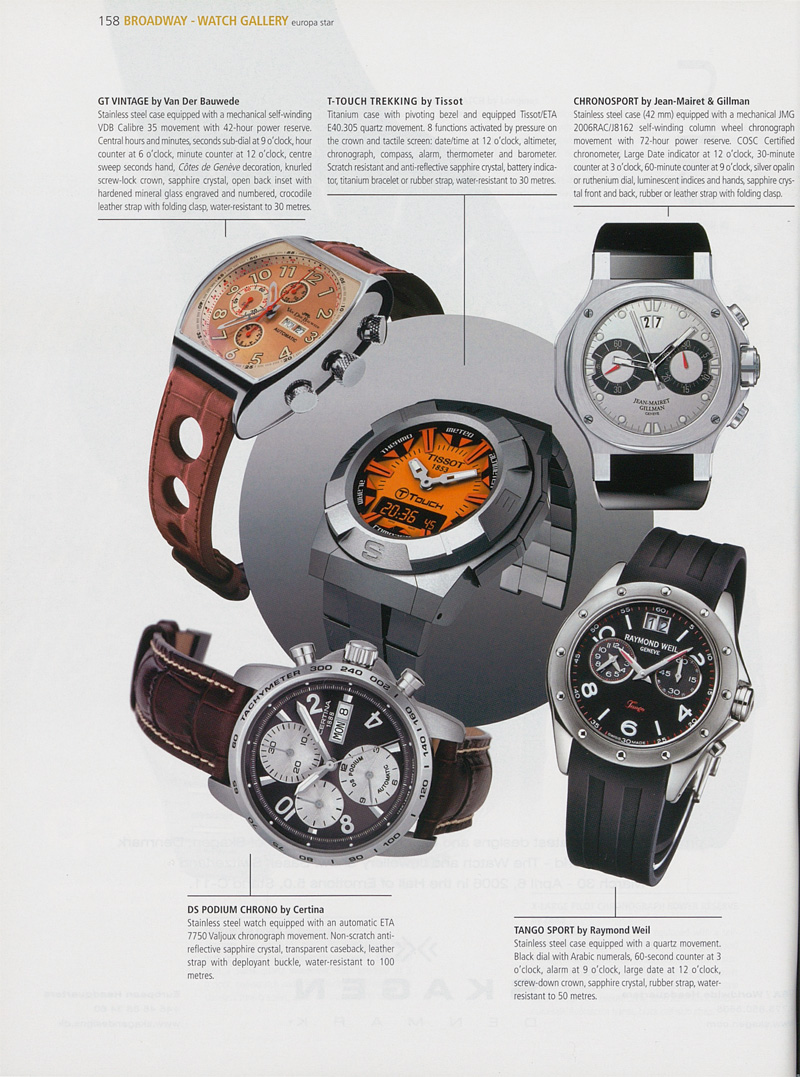 DS Podium Chrono published in Europa Star in 2006