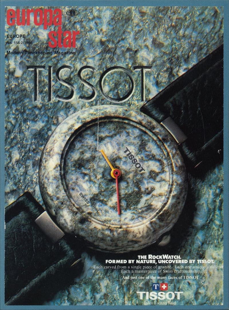 The RockWatch by Tissot cover page of the 2/1986 issue of Europa Star