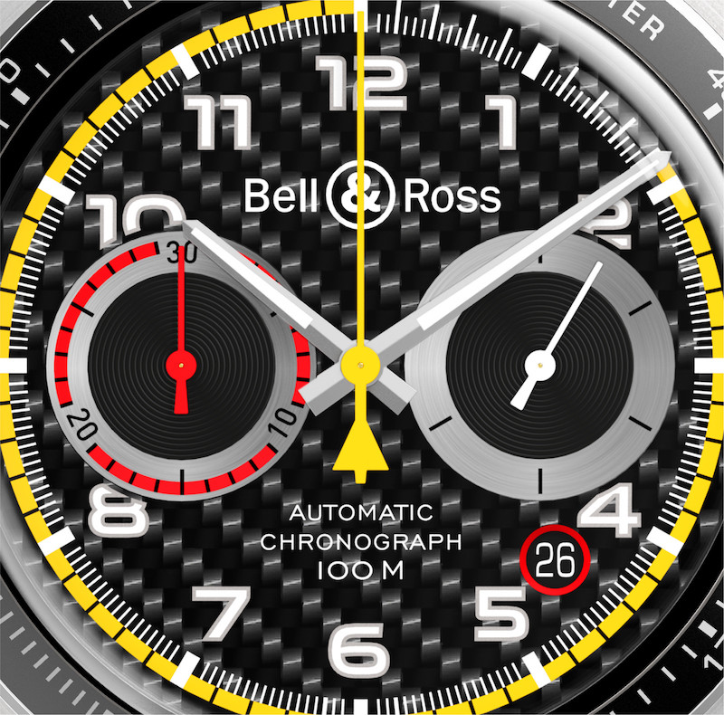 Carbon fibre plays a big part in the newest watch from Bell and Ross