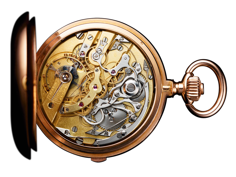 Pocket split-seconds and lightning chronograph, dating from 1889.