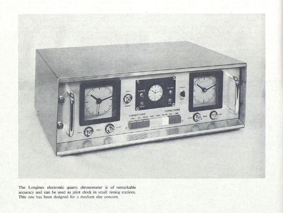Longines developed ultra-accurate quartz clocks in the 1950s for scientific and sports timing.