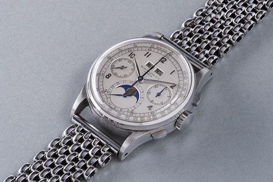 Patek Philippe 1518 sold for 12.5 million CHF at a Phillips Bacs & Russo auction in Geneva