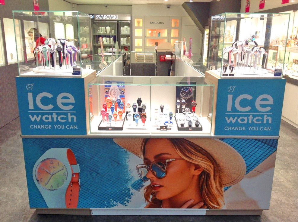 An Ice-Watch counter in France.